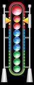 Futuristic Crystal Meter — Stock Vector