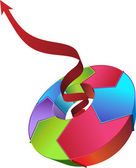 цикл процесса - по часовой стрелке — Cтоковый вектор