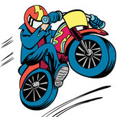 Dirt Bike Jump — Stock Vector