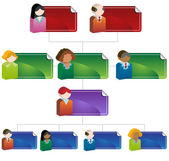 Diversity Organizational Chart — Stock Vector