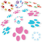 Paw Print Circle — Stockvektor