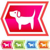 Dog Icon — Stock Vector