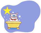 Dog Bath Star - Bulldog — Stock Vector