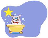 Dog Bath Star - Bulldog — Stock Vector
