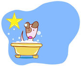 Dog Bath Star - Puppy — Stock Vector