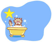 Dog Bath Star - Terrier — Stock Vector