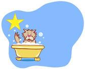 Dog Bath Star - Terrier — Stock Vector