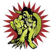 Dragon-mannen — Stockvektor