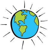 卡通地球 — 图库矢量图片