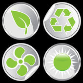 Recycle Buttons — Stock Vector