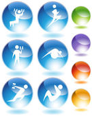 Exercise Crystal Icon Set — Stock Vector