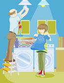 Aile işleri — Stok Vektör