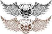 Winged Demons — Stock Vector