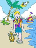 Kid Adventures: Florida Vacation — Stock Vector