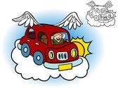 Flying Car — Stock Vector