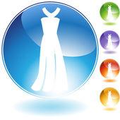 Formell klädsel crystal ikon — Stockvektor