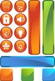 Kylskåp ikoner — Stockvektor