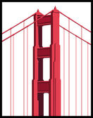 Golden Gate Bridge — Stock Vector
