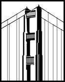 Pont du golden gate — Vecteur