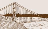 Most golden gate bridge — Stock vektor