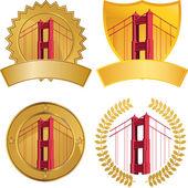 Golden gate köprüsü — Stok Vektör