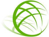 Earth Green Logo — Stock Vector