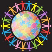 Global Unity — Stock Vector