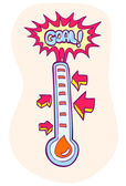 Goal Meter — Stock Vector