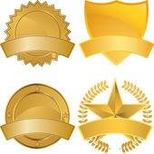 Gold Award Medals — Stock Vector