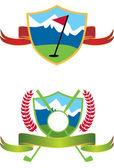 гольф иконки — Cтоковый вектор