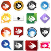 Handwashing Icon Set — Stock Vector