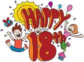 Happy 18th — Stock Vector