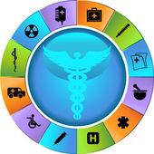 Roda de saúde — Vetorial Stock