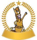 Waving Horse — Stock Vector
