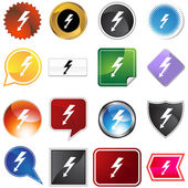 High Voltage Icon Set — Stock Vector
