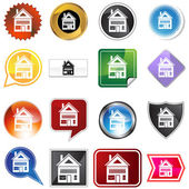 Multiple Buttons - Home — Stock Vector