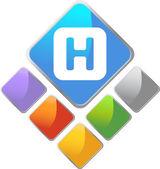 Hospital Square Icon — Stock Vector