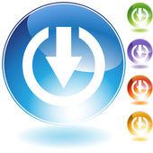 Inbox Arrow Set — Stock Vector