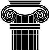 Ionic Column — Stock Vector