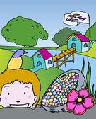 Kid Adventures: Symbols of Iowa — Vecteur