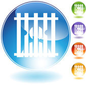 Behind Bars — Stock Vector