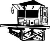 Lifeguard Tower — Stock Vector