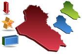 Mapa Irák — Stock vektor