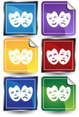 Comedy Masks — Stock Vector