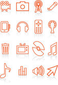 Film Industry Icons — Stock Vector