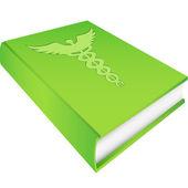 Caduceus - on Green Book — Stock Vector
