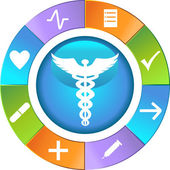 Healthcare Wheel - Simple — Stok Vektör