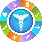 Roue de soins de santé - simple — Vecteur