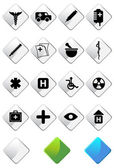 Medical Icon Set — Vettoriale Stock