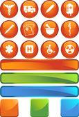 Medical icon set - selo — Vetorial Stock